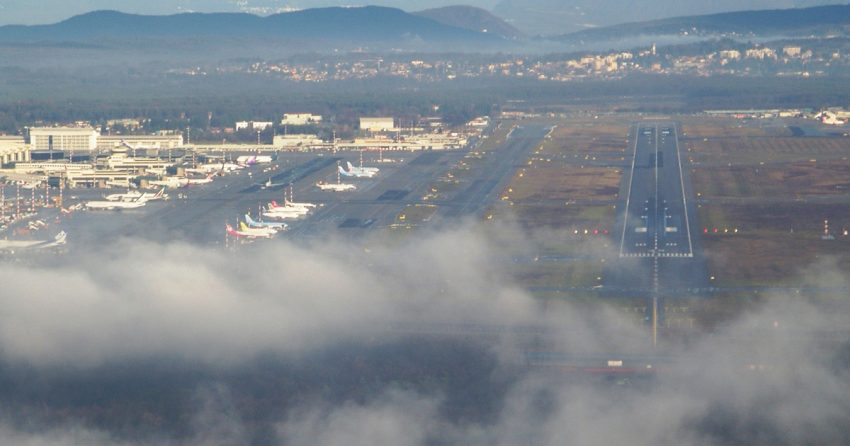 Milan Malpensa under changeable weather conditions